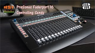Controlling Sends- Faderport 8/16 (Studio One 4.5.5) Part 2 of 5