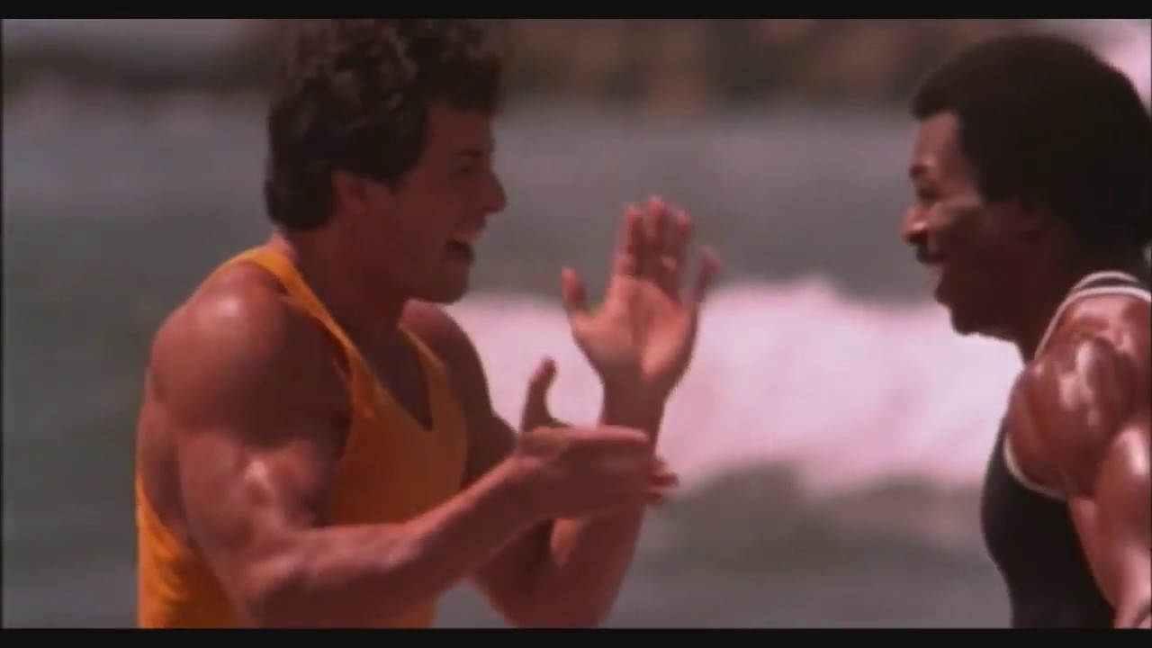 Rocky Iii By Sylvester Stallone 1982 Training Scene Youtube