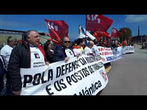 """Los trabajadores de Alcoa en San Cibrao se concentran ante la """"falta de perspectivas"""""""