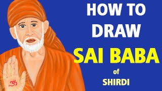 How to Draw Sai Baba of Shirdi [Speed Painting]