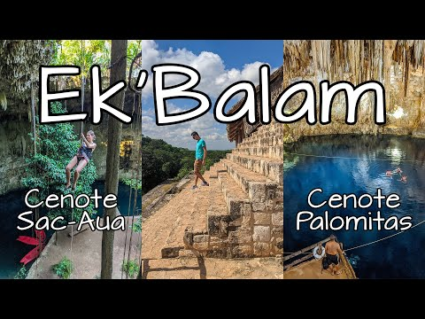 Ek Balam ✅ Cenote Palomitas y Cenote Sac Aua 🔴 Ruinas #EkBalam y Cenotes de #Yucatan #México!
