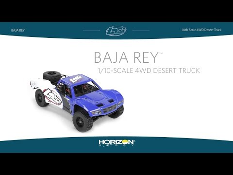 Losi Baja Rey 1/10-Scale RTR 4WD Desert Truck with AVC Technology