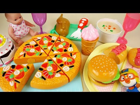 Thumbnail: Baby doll and food cutting refrigerator toys play