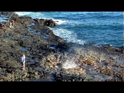 Spouting Horn Blowhole on the South Shore of Kauai, Hawaii