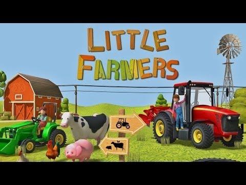 Coloriage De Ferme Avec Tracteur Et Animaux.Petits Agriculteurs Tracteurs Moissonneuses Et Animaux De La Ferme Pour Les Enfants