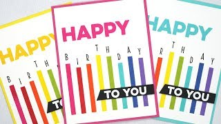 How To Create Stamped Rainbow Birthday Cards