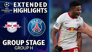 RB Leipzig vs. Paris SaintGermain: Extended Highlights | Group Stage  Group H | UCL on CBS