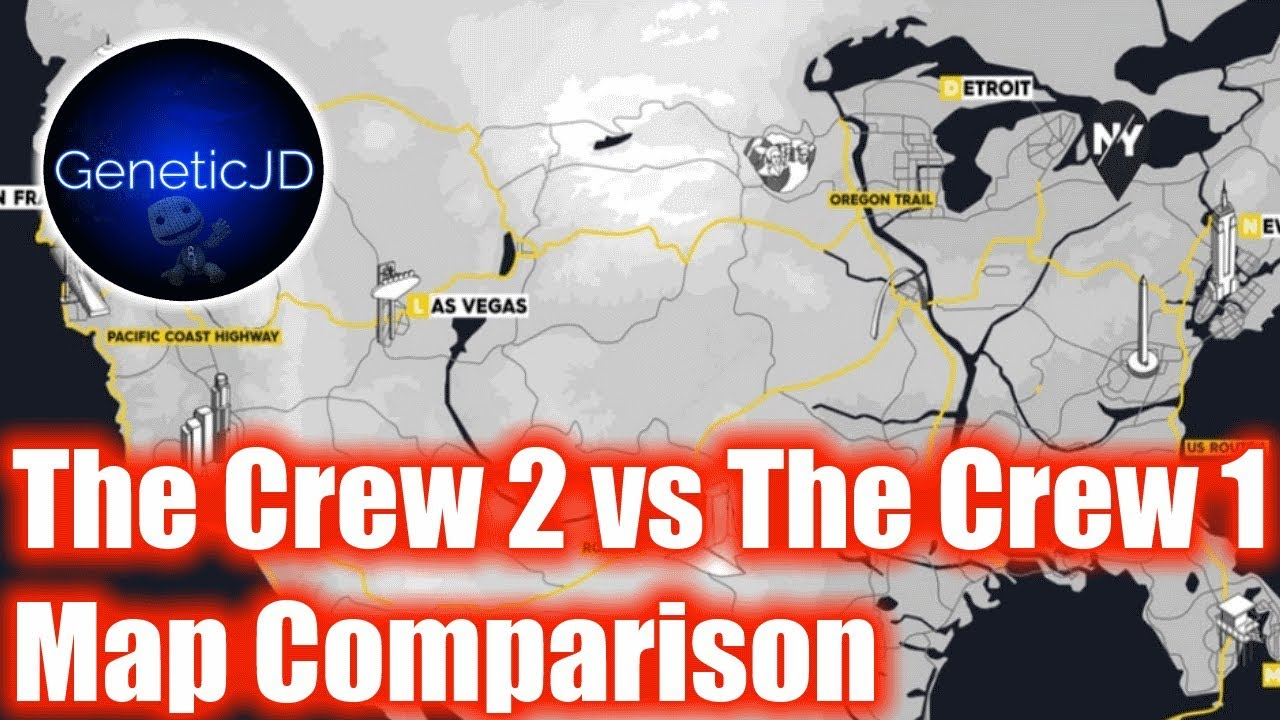 The Crew Vs The Crew Map Comparison YouTube - The crew us map