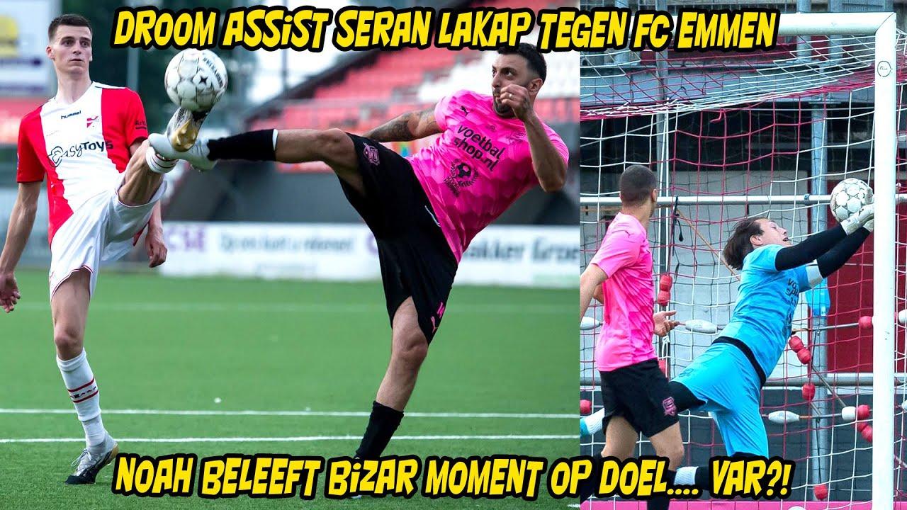Droom assist Seran Lakap tegen FC Emmen. Noah beleeft bizar moment op doel... VAR?!
