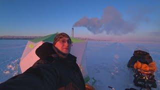 БЫТ НА РЫБАЛКЕ ПАЛАТКА, ПЕЧКА / РЫБАЛКА В МОРОЗ - 35 / Winter fishing