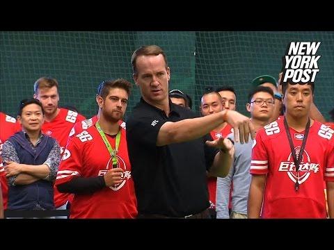 Peyton Manning finally brings real football to China