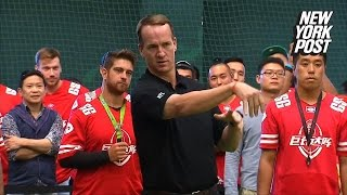 Peyton Manning finally brings real football to China