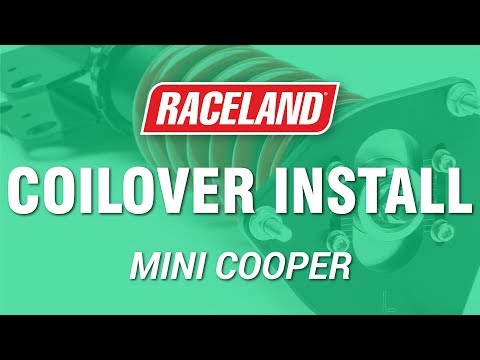 how to install raceland mini cooper r56 coilovers youtube. Black Bedroom Furniture Sets. Home Design Ideas