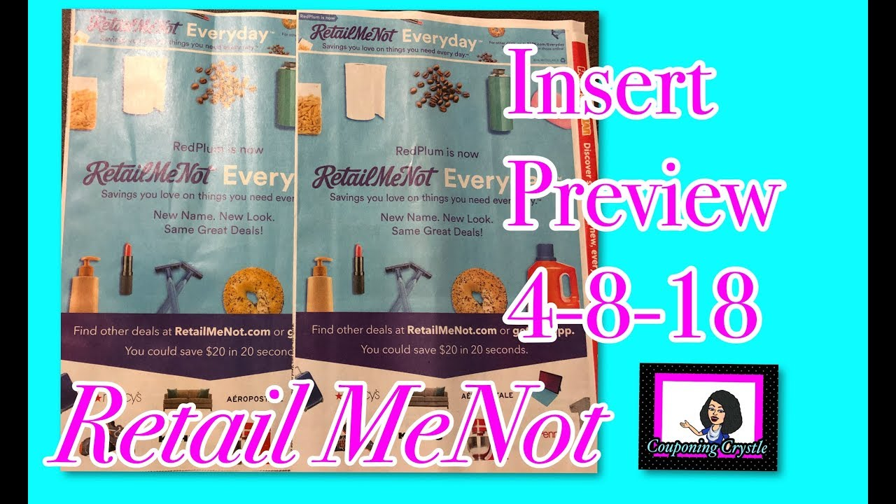 Insert Preview Retailmenot 4 8 18 1 2 Inserts Couponing Crystle