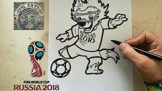 COMO DIBUJAR A ZABIVAKA -RUSSIA 2018 / how to draw zabivaka - russia 2018