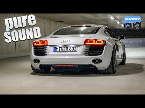 Audi R8 V8 (430hp) - pure SOUND (60FPS)