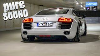 Audi R8 V8 (430hp) - pure SOUND (60FPS)