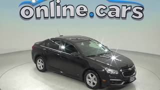 A97924GP Used 2015 Chevrolet Cruze 1LT FWD 4D Sedan Black Test Drive, Review, For Sale