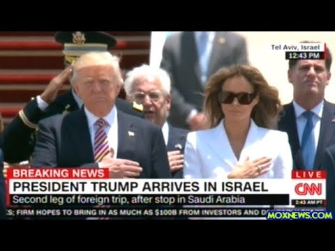 President Trump Welcome To Israel Ceremony At Airport In Tel Aviv