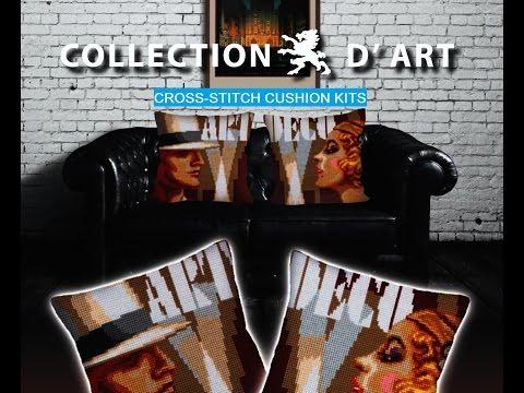 Collection D'Art: Cross-stitch cushions kits