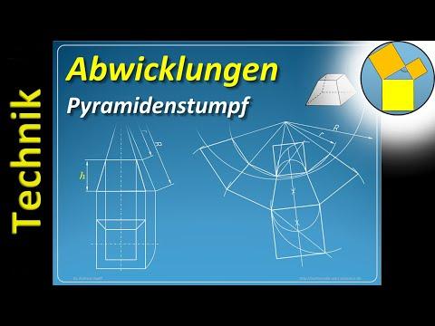 Abwicklung eines Pyramidenstumpfs – Geometrie – Rueff