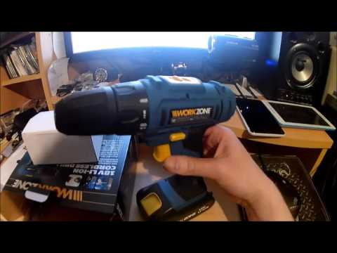 WALTER Aldi Workzone 18 V 1500 mAh LI-ON Cordless drill. Nov 2016. -tool tips.