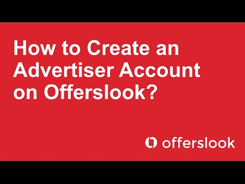 How to Create an Advertiser Account on Offerslook?