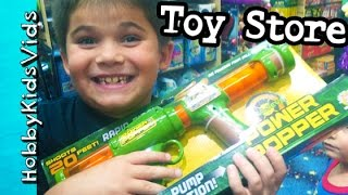 Toy Store Browsing! Trick Gifts + Lego, Blasters and Star Wars HobbyKidsVids