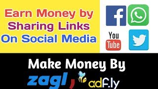 Make money online by url shortner (zagl, adfly) | earn real paypal work from home