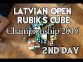 Latvian Open 2016 Rubik's Cube competition 2016 | 2. Day