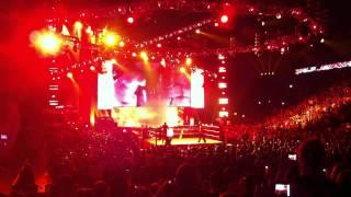 Zack Ryder and Kane entrance wwe raw o2 london 16/4/12