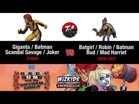 T3 - Giganta/Scandal Savage/Joker vs Batgirl/Robin/Batman [HeroClix Game]