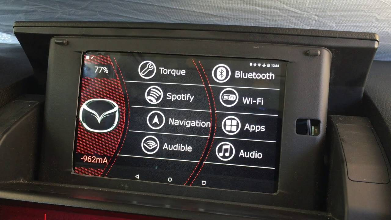 Android Tablet in 2006 Mazdaspeed 6 Dash