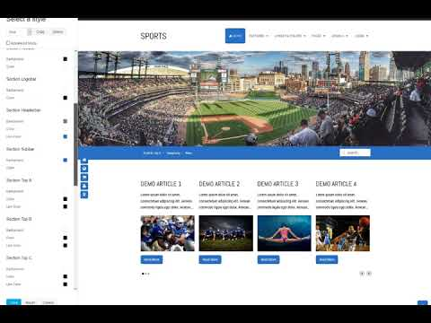 Sport Template Customizer
