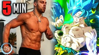 Only 5 Minutes and you are Vegeta - Eliminate Abdominal Fat (Exercises at Home)