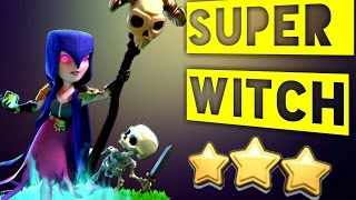 SUPER WITCH TH9 NEW STRONG 3 STAR WAR ATTACK STRATEGY (No Bowlers Required) : Clash of Clans