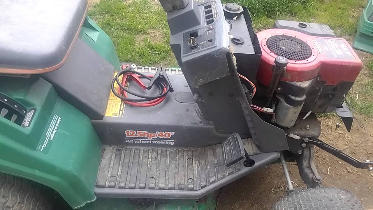 Scotts 4 Wheel Steer Mower Youtube
