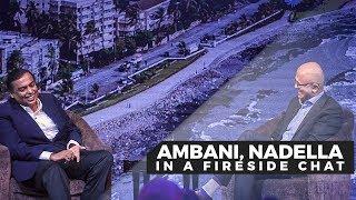 India can become premier digital society, Ambani tells Nadella at Microsoft event | Economic Times