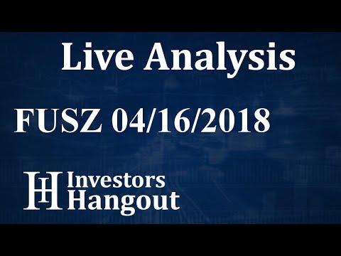 FUSZ Stock nFusz Inc. Live Analysis 04-16-2018