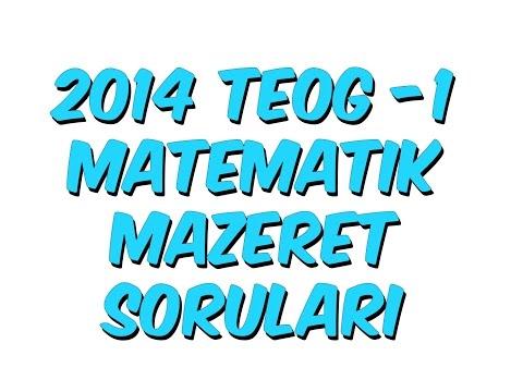 2014 TEOG-1 MATEMATİK MAZERET SORULARI