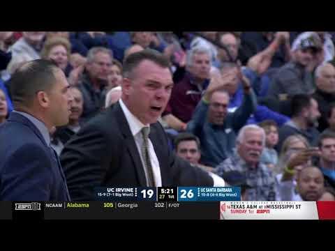 UCI Basketball Vs UCSB  Game Highlights 2 8 20