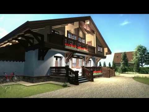 "Проект дома-шале ""Европа 032"" в камне. Видео-обзор дома."