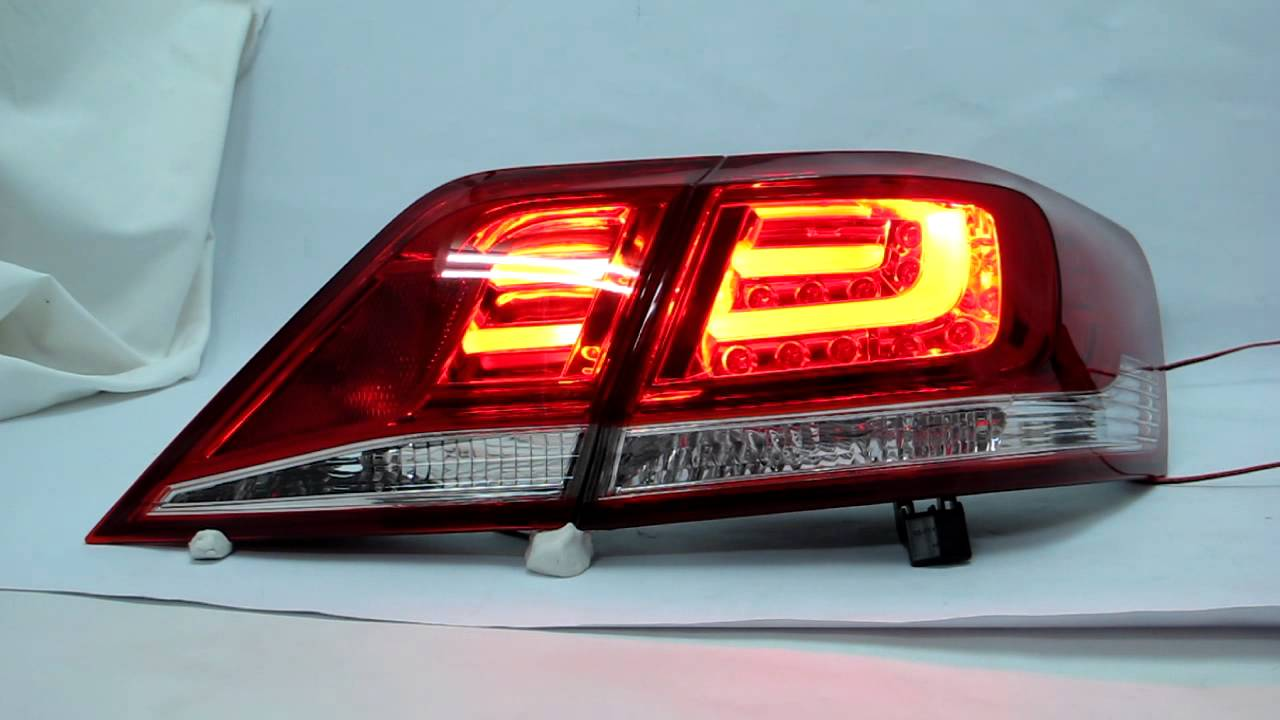 aurion camry xv40 2006 2011 led tail rear light red clear for toyota youtube. Black Bedroom Furniture Sets. Home Design Ideas