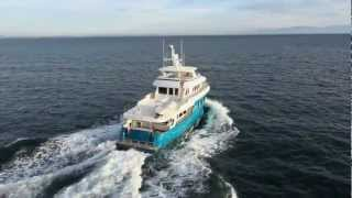 Northern Marine expedition trawler Yachts cruising in the Salish Sea
