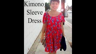 DIY Kimono Sleeve Dress