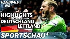 Zittersieg: Deutschland gegen Lettland in der Zusammenfassung | Handball-EM | Sportschau