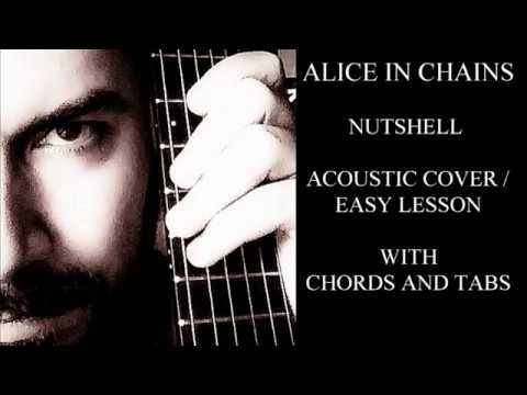 Alice in chains Nutshell Acoustic cover / easy lesson with Tabs