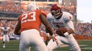 Oklahoma Sooners vs Texas Longhorns | NCAA College Football 20 | Madden 20 Mods