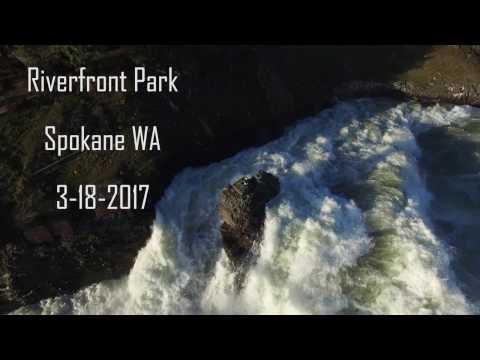 The Incredible Raging Spokane River in 4k