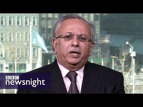 Saudi UN Ambassador interview on Yemen conflict - BBC Newsnight